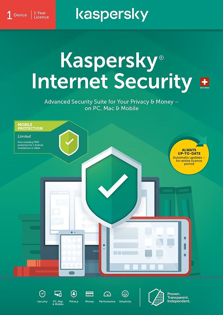 Kaspersky Internet Security (1 PC) [PC/Mac/Android] (D/F/I)