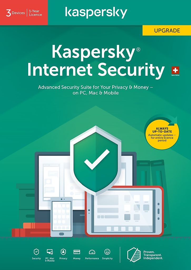 Kaspersky Internet Security (3 PC) Upgrade [PC/Mac/Android] (D/F/I)